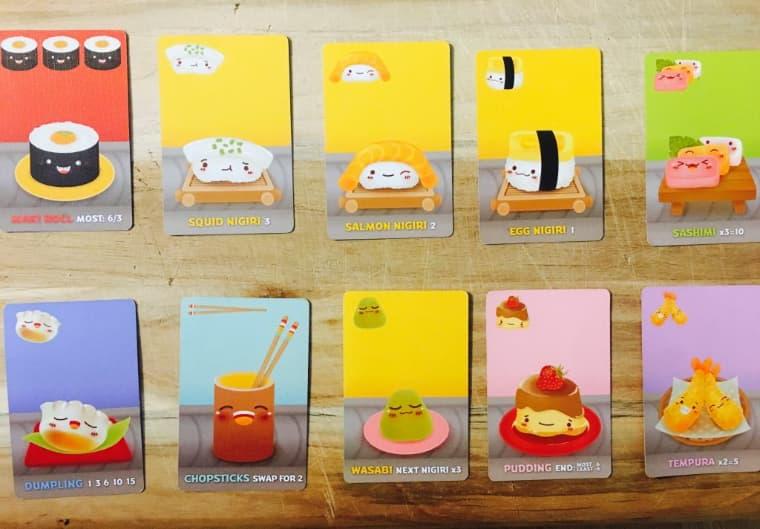 Cartas Sushi Go